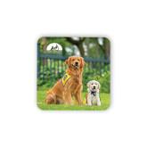 Hardboard Coaster w/Cork Backing-Big Dog with Puppy