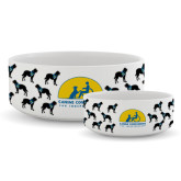 Ceramic Dog Bowl-Dog Pattern