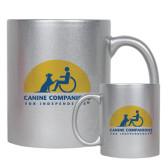 11oz Silver Metallic Ceramic Mug-