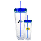 Tritan Double Wall Tumbler w/Blue Top 26oz-Give a Dog a Job