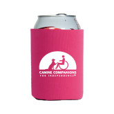 Collapsible Hot Pink Can Holder-