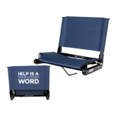Stadium Chair Navy-Help is a Four Legged Word
