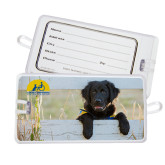Luggage Tag-Dog on Fence