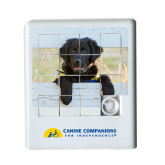 Scrambler Sliding Puzzle-Dog on Fence