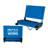 Stadium Chair Royal-Help is a Four Legged Word