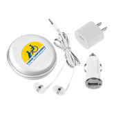 3 in 1 White Audio Travel Kit-