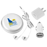 3 in 1 White Audio Travel Kit-Dog Fest Tall