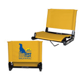 Stadium Chair Gold-Dog Fest Tall