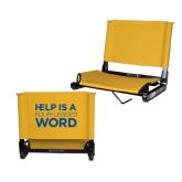 Stadium Chair Gold-Help is a Four Legged Word