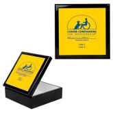 Ebony Black Accessory Box With 6 x 6 Tile-Kinkeade Campus, Personalized