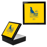 Ebony Black Accessory Box With 6 x 6 Tile-Dog Fest Tall, Personalized