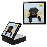 Ebony Black Accessory Box With 6 x 6 Tile-Dog on Fence