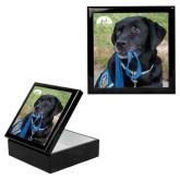 Ebony Black Accessory Box With 6 x 6 Tile-Dog with Leash