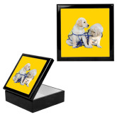 Ebony Black Accessory Box With 6 x 6 Tile-Two Puppies