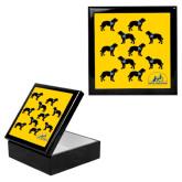 Ebony Black Accessory Box With 6 x 6 Tile-Dog Pattern