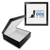 Ebony Black Accessory Box With 6 x 6 Tile-Give a Dog a Job