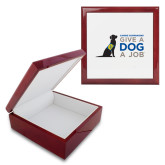 Red Mahogany Accessory Box With 6 x 6 Tile-Give a Dog a Job