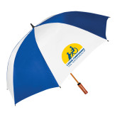 62 Inch Royal/White Umbrella-