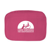Large Hot Pink Waffle Cosmetic Bag-