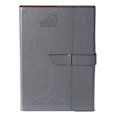 Fabrizio Grey Portfolio w/Loop Closure-Official Logo Engraved, Personalized