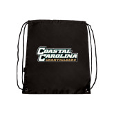 Black Drawstring Backpack-Coastal Carolina Chanticleers