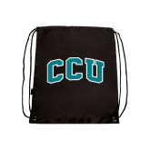 Black Drawstring Backpack-Arched CCU