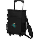 30 Can Black Rolling Cooler Bag-Chanticleer Head