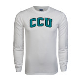 White Long Sleeve T Shirt-Arched CCU