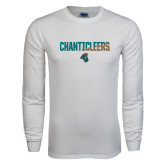 White Long Sleeve T Shirt-Chanticleers Two Tone
