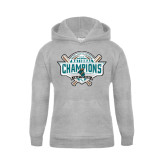Youth Grey Fleece Hood-2016 NCAA Baseball National Champions