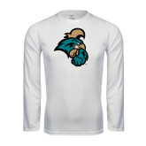 Syntrel Performance White Longsleeve Shirt-Chanticleer Head