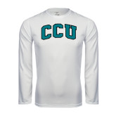 Syntrel Performance White Longsleeve Shirt-Arched CCU