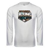 Syntrel Performance White Longsleeve Shirt-Coastal Rising - Sun Belt Conference