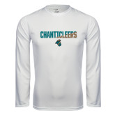 Syntrel Performance White Longsleeve Shirt-Chanticleers Two Tone