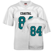 Replica White Adult Football Jersey-#84