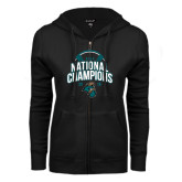 ENZA Ladies Black Fleece Full Zip Hoodie-2016 NCAA College World Series Baseball Champions