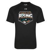 Under Armour Black Tech Tee-Coastal Rising - Sun Belt Conference