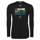 Under Armour Black Long Sleeve Tech Tee-Game. Set. Match. Tennis Design