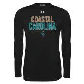 Under Armour Black Long Sleeve Tech Tee-Coastal Carolina Stacked