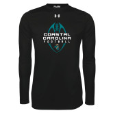 Under Armour Black Long Sleeve Tech Tee-Tall Football Design