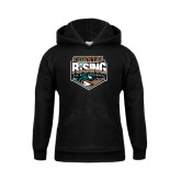 Youth Black Fleece Hood-Coastal Rising - Sun Belt Conference
