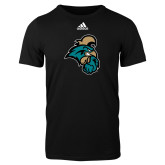 Adidas Black Logo T Shirt-Chanticleer Head
