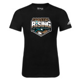 Adidas Black Logo T Shirt-Coastal Rising - Sun Belt Conference