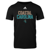 Adidas Black Logo T Shirt-Coastal Carolina Stacked