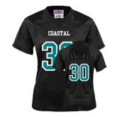 Ladies Black Replica Football Jersey-#30