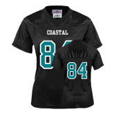 Ladies Black Replica Football Jersey-#84