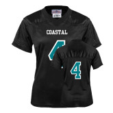 Ladies Black Replica Football Jersey-#4