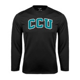 Syntrel Performance Black Longsleeve Shirt-Arched CCU