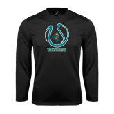 Syntrel Performance Black Longsleeve Shirt-Tennis Ball Design