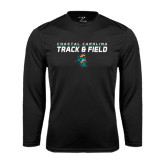 Syntrel Performance Black Longsleeve Shirt-Track and Field Design